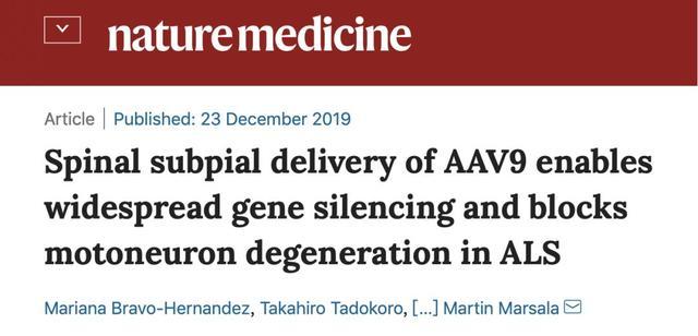 「Nature子刊」沉默SOD1基因,让渐冻人自由得更久一点